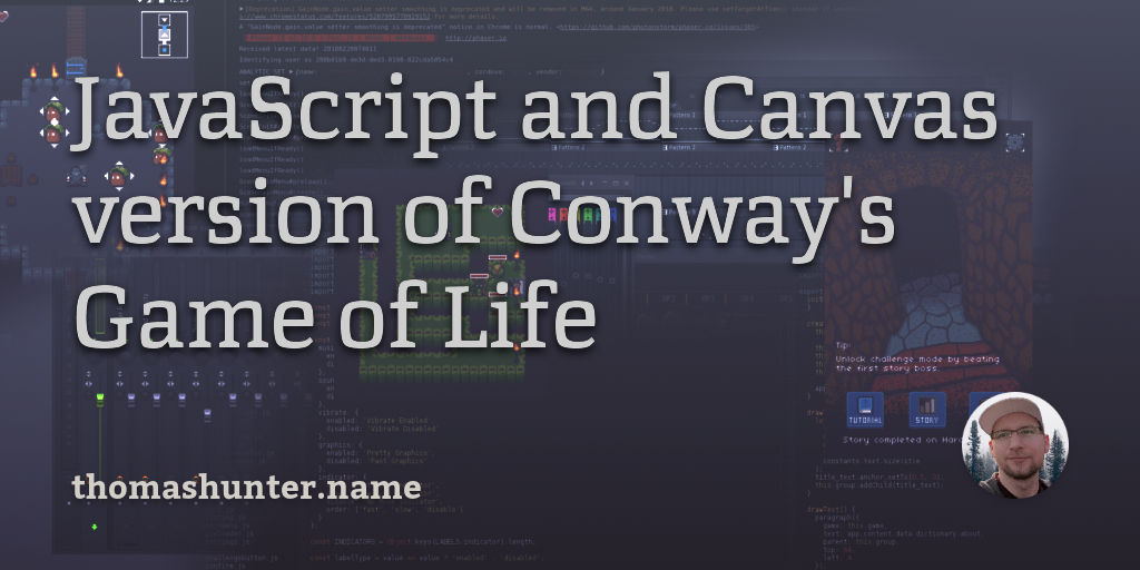 JavaScript and Canvas version of Conway's Game of Life