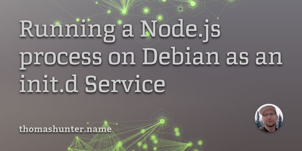 Running a Node js process on Debian as an init d Service