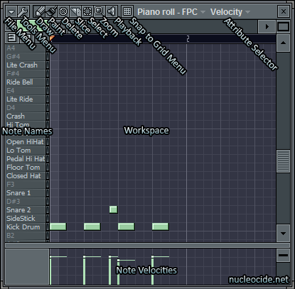 FL Studio Piano Roll Interface