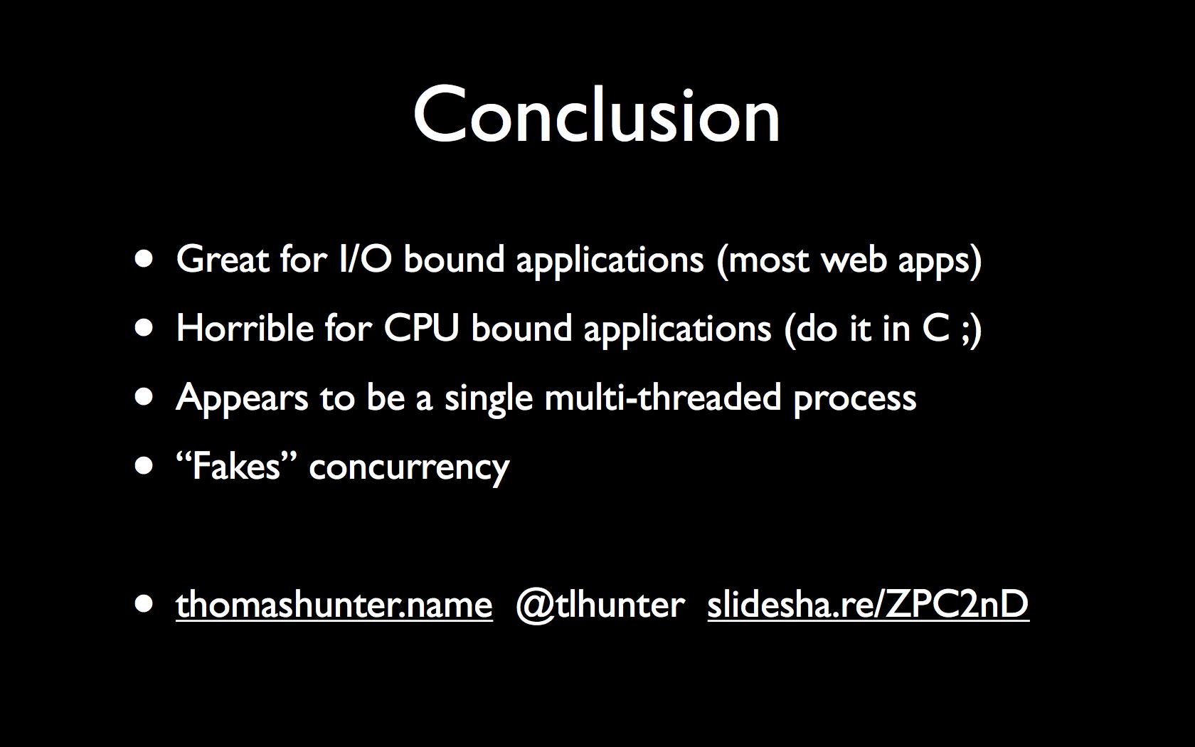 The Javascript Event Loop Presentation Thomas Hunter Ii