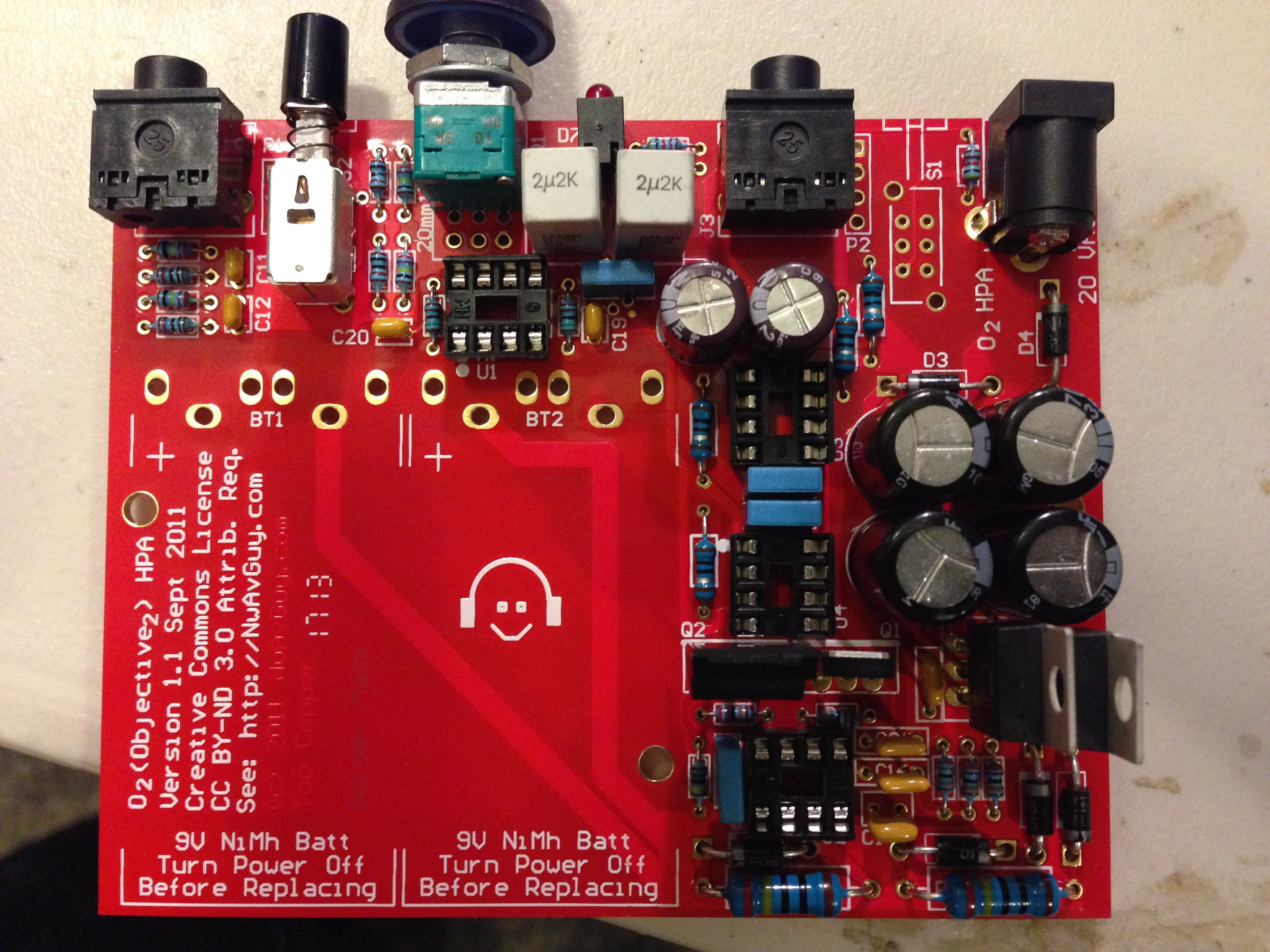 O2 Headphone Amplifier - Mostly Complete